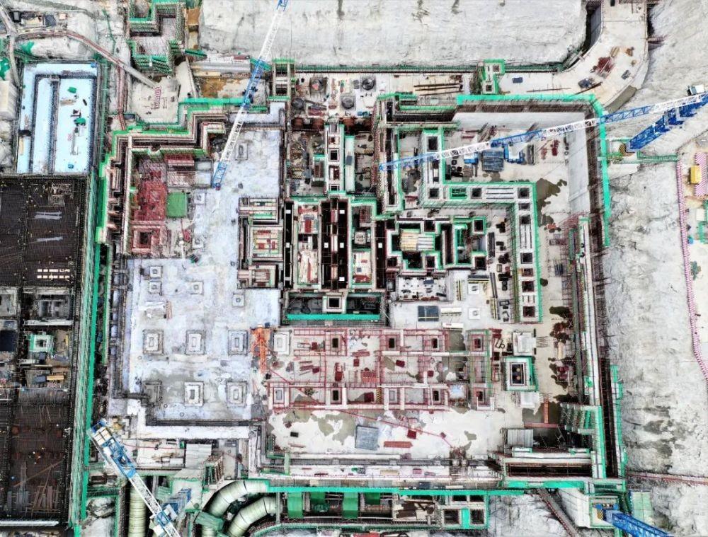 中核二四公司完成华龙一号漳州核电2号常规岛汽轮机主厂房筏基浇筑