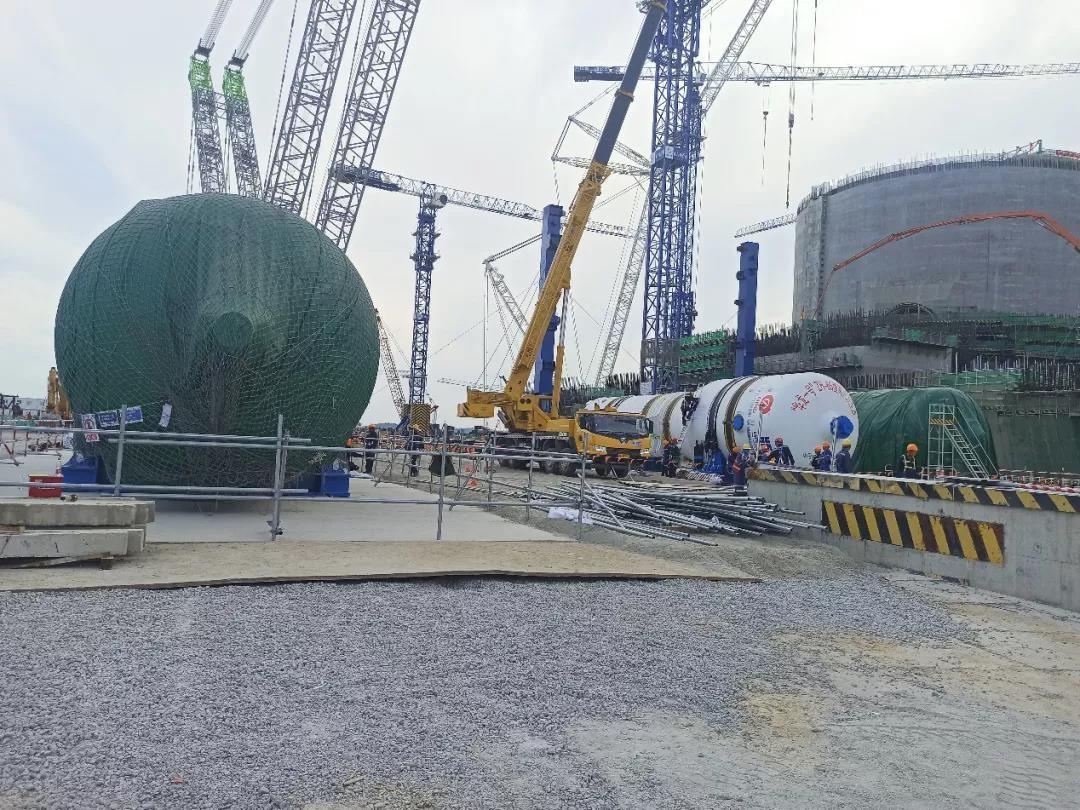 华龙一号漳州核电1号机组三台蒸汽发生器全部运抵核电现场