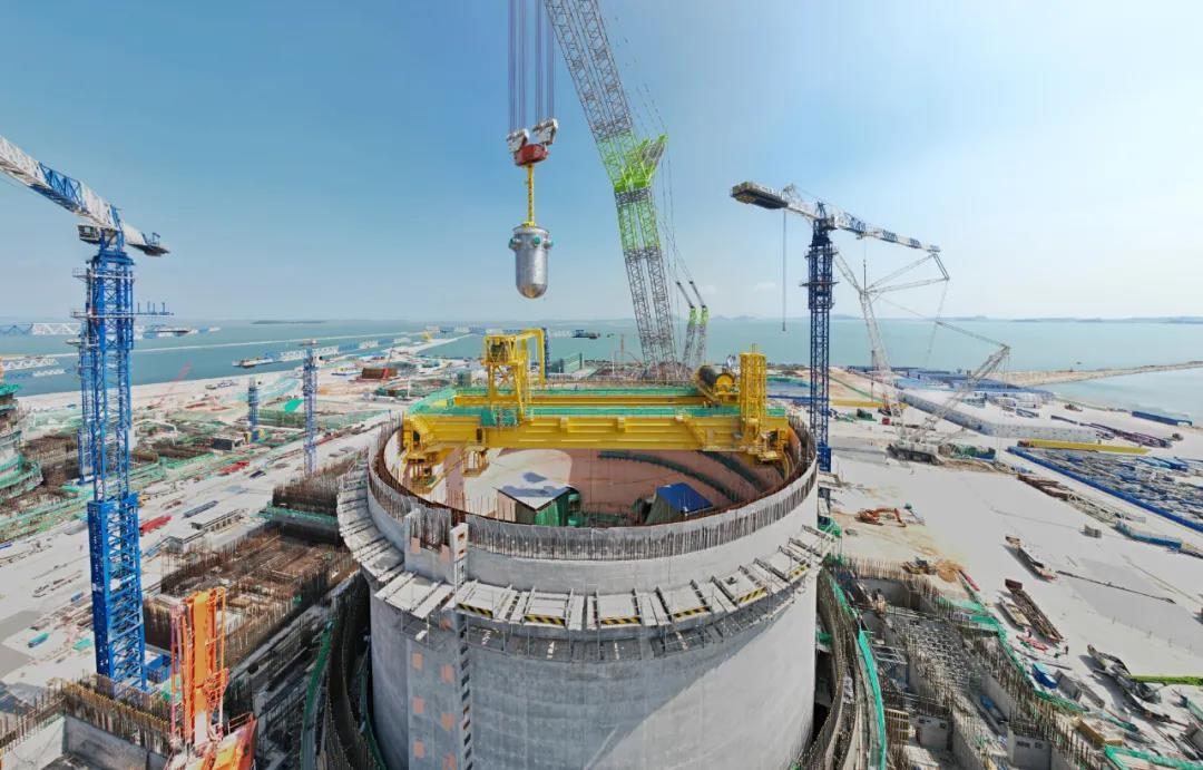 华龙放心!漳州核电1号机组压力容器吊装成功